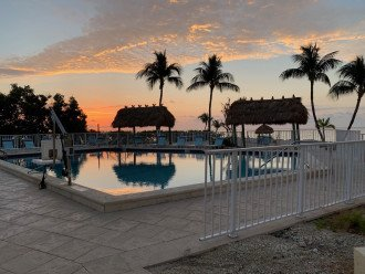 Sunrise at the pool.