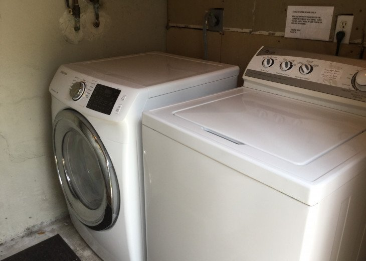 Washer & Dryer in shed shared