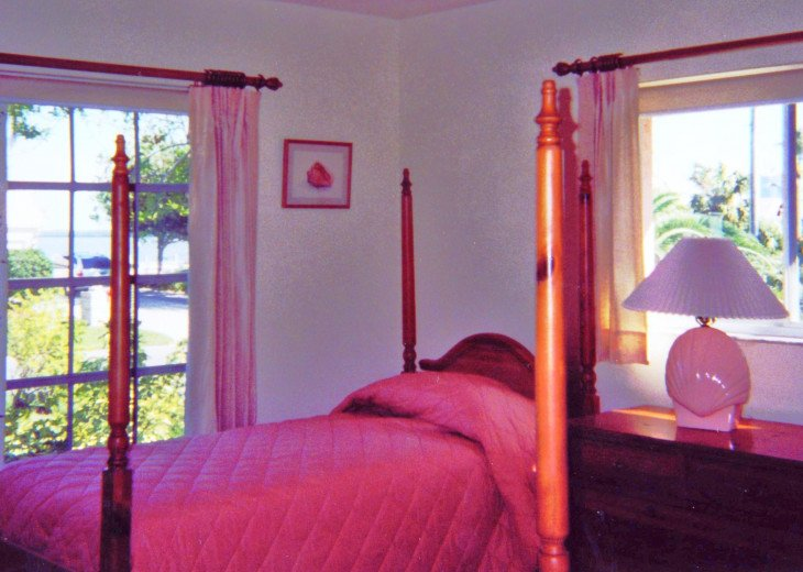 Twin guest bedroom - view of Estero Bay