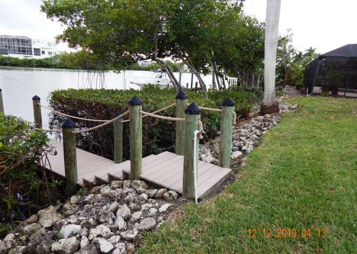 private dock on Estero Bay