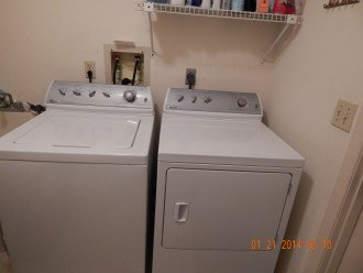 laundry room - large capacity washer and dryer