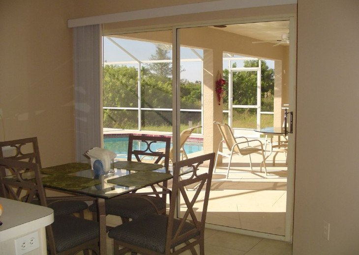 View from the kitchen to the lanai