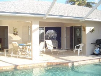 View of the lanai with 3 sets of sliders