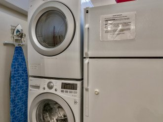 1st Flr - Commercial Washer/Dryer and 2nd Full-size Fridge in laundry room