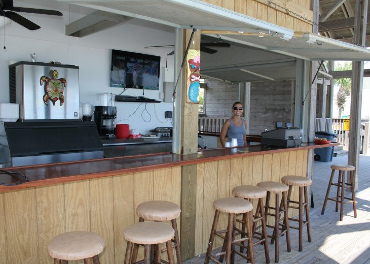 Bar-N-Grill on our Private Beach Pavilion