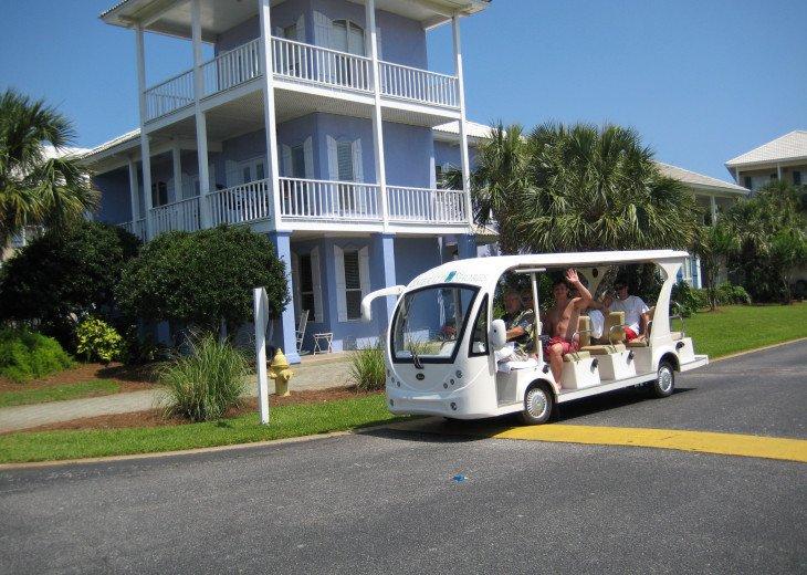 Seasonally operated beach tram