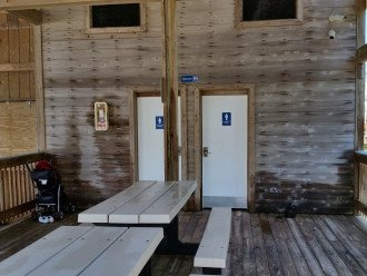 Restrooms at the pavilion