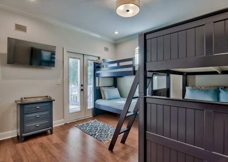 2nd Floor Bunk Room (twin over twin/full over full) with shared bath