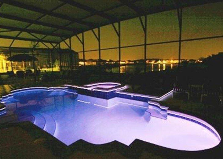 Nightime Pool in Blue