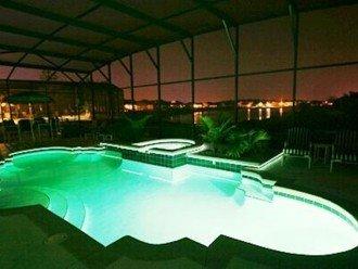 Nightime Pool in Green