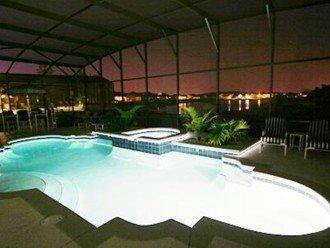 Nightime Pool in White