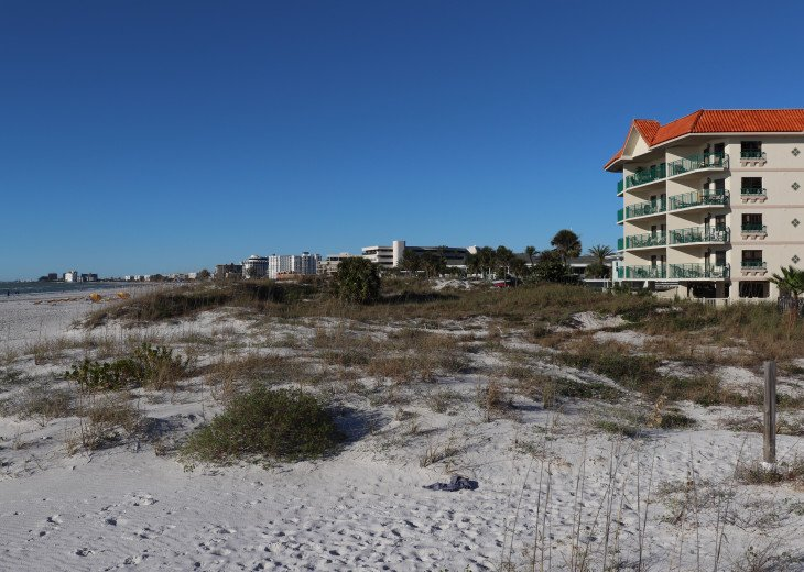 condo building is right on the beach