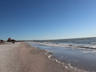 beautiful .4 mile walk along the beach to the famous Don Cesar pink castle