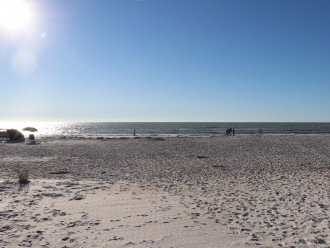 beautiful white sandy beach that is not overcrowded