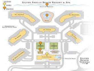 Silver Shells Beach Resort Map