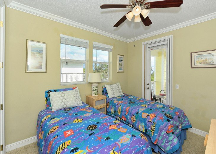 Twin beds - a must if you have several children. We know, we raised two boy