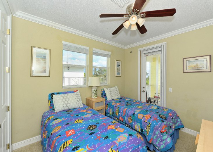 TWIN BEDS - A MUST IF YOU HAVE SEVERAL CHILDREN. WE KNOW, WE RAISED TWO BOYS!