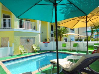 PRIVATE, HEATED, SALTWATER POOL EXCLUSIVELY FOR USE BY OUR GUESTS.