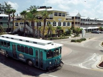 DON'T WANT TO WALK? TAKE THE FREE ISLAND TROLLEY!