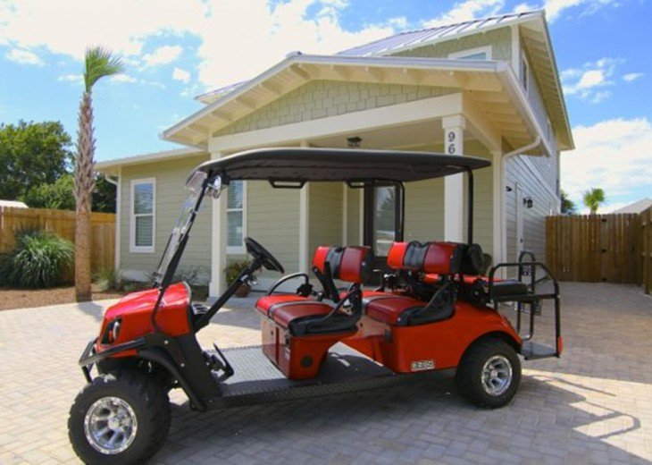 Luxury, 6 Passenger Golf Cart, Lg. Private Pool, 4 Minute Walk to Beach #3