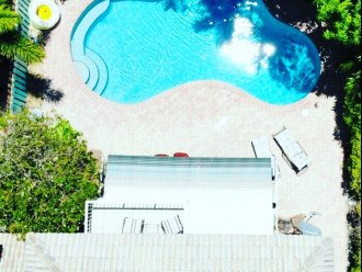 aerial view of Villa Pine from balcony