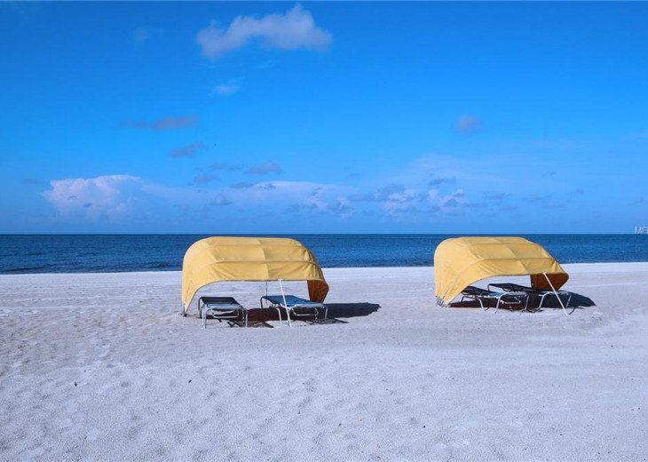 Rental cabanas nearby if you desire or we supply beach chairs and umbrella