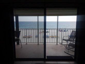 View of Gulf and beach from the living room