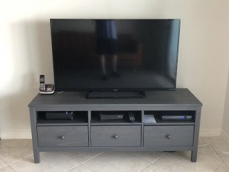 Large TV in the living room