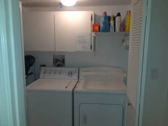 Washer and dryer directly in the condo