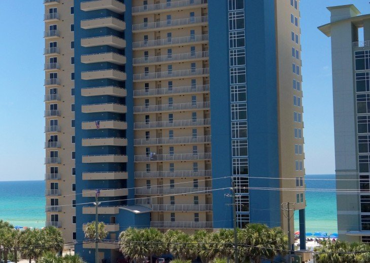 Beautiful building right on the beach