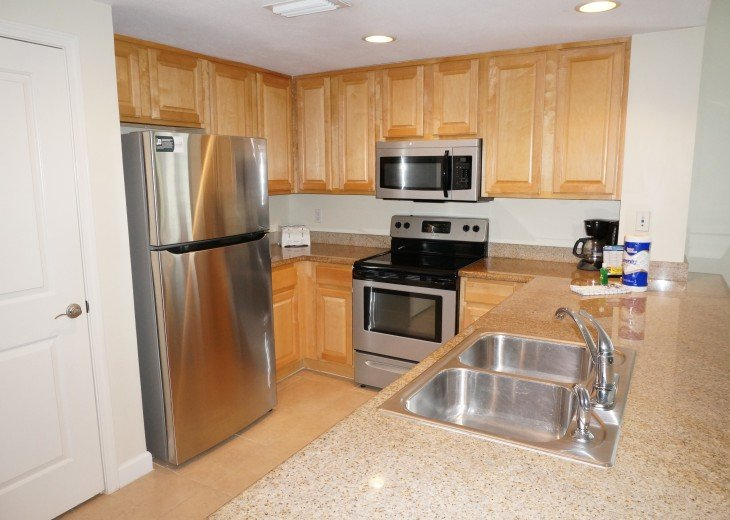 Full kitchen includes all appliances you will need for your vacation