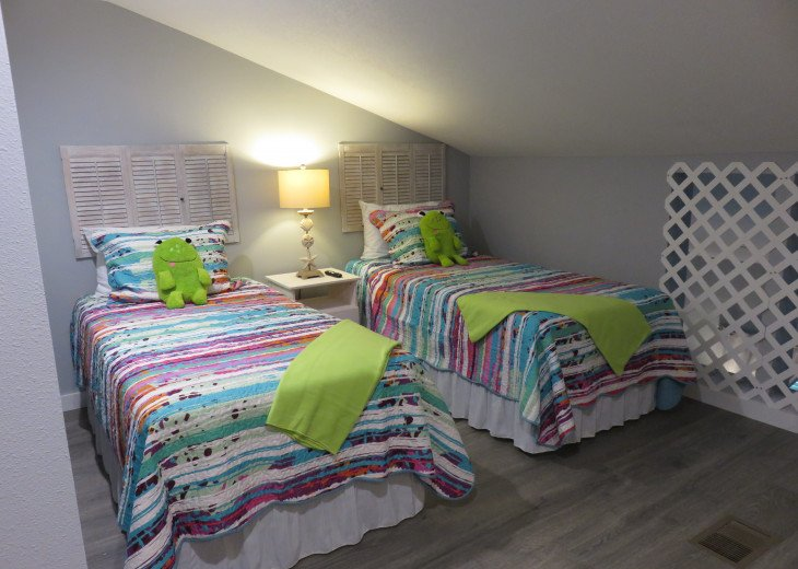 Upstairs twin beds
