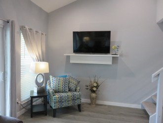 Living Room with 50 inch flat screen tv