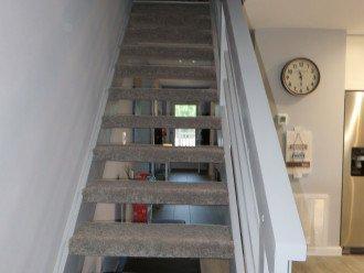 Modern, open staircase