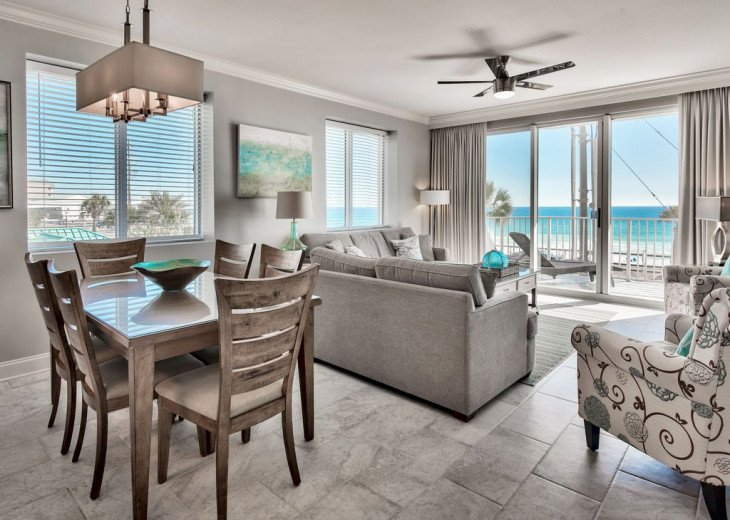 Newly Renovated 3BR/3BA condo on 2nd floor, sleep 10 with an amazing gulf view. #9