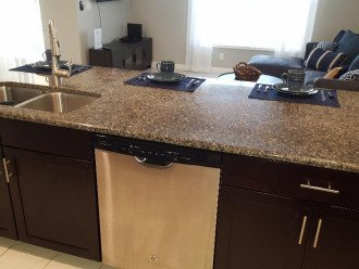 Kitchen Counter w/Sink & Dishwasher