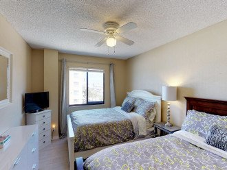 2nd bedroom with 2 full beds , updated furniture and amazing new mattresses!