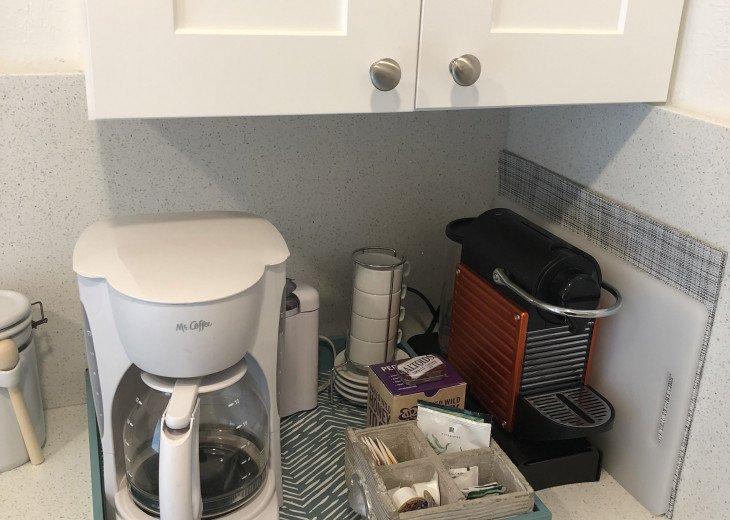 Drip coffeemaker and Nespresso, too!