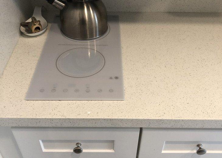 Modern glass cooktop