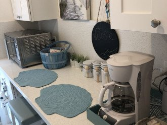 Eat-in kitchen (plus convertible dining room table & chairs in main room)