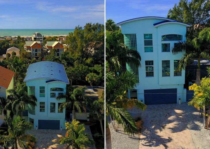 THE BLUE HOUSE - LUXURY VILLA SIESTA KEY- 10 PERS. 2 MN FROM THE BEACH #2