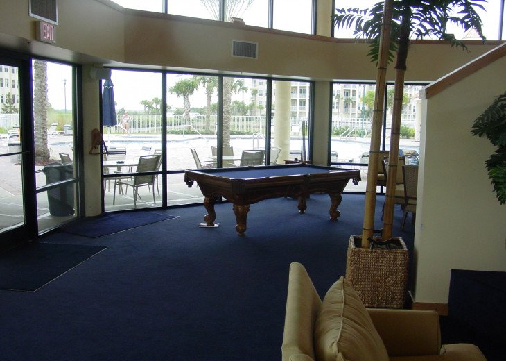 Recreation room at the Marina Pool and Pub