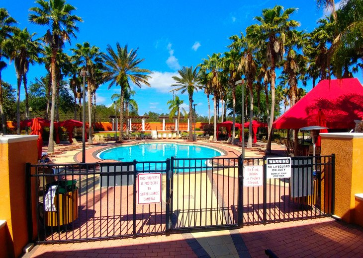 Community Pool with outdoor entertainment