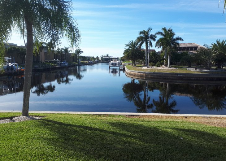 punta gorda isles-our canal leads out to charlotte harbor, gulf