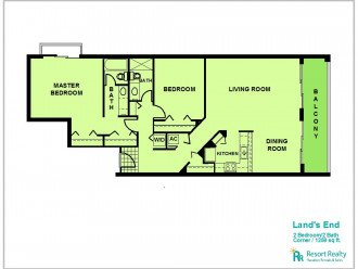 Land's End : Large Corner Unit, Top Floor #1