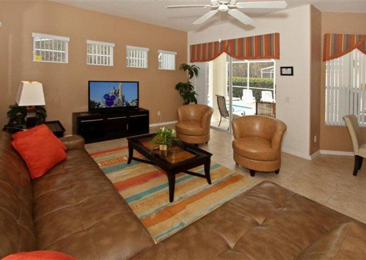 Close to Disney World Orlando Luxury 6BR/4.5BA South Facing Pool #3