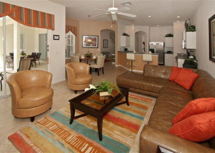 Close to Disney World Orlando Luxury 6BR/4.5BA South Facing Pool #6