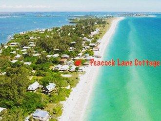 """Little Gasparilla Island"" Florida-Gulf Front Cottage on Beach-Dock-Pets-1550/wk #1"