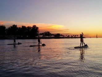 Stand up paddle board on the bay just off the dock!