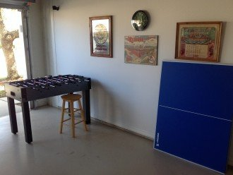 Ping pong table and soccer table !